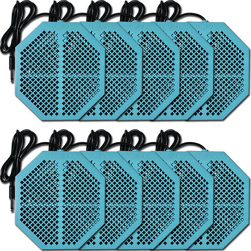 "Cell Spa 10 Pack CS-900 Twice Powerful 6.5"" x 5.5"" Ion Detox Foot Bath Arrays"