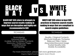 Know the difference between Whitehat and Blackhat SEO. It will help you.