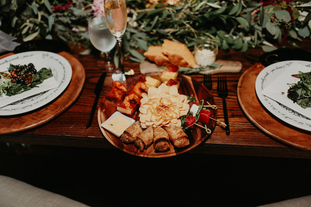 Sweetheart Table Appetizers