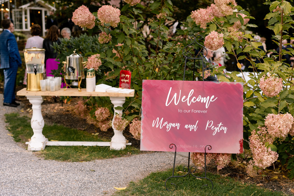 Welcome Beverages at Ceremony