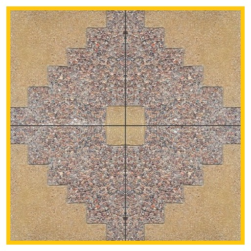 Diaguita Porotito 50x50x4cm