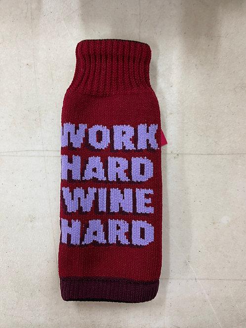 Work Hard Wine Hard Freaker Koozie