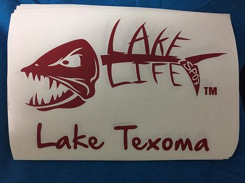 Lake Texoma Lake Life Decals