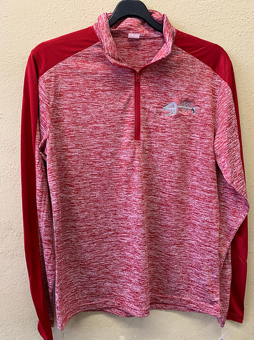 Electric Heather Lake Life Colorblock 1/4 Zip Pullover ST397