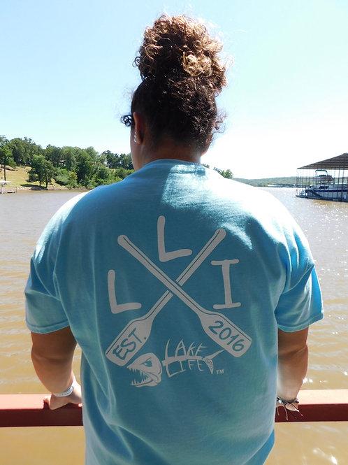 Crossed Paddles Lake Life T-Shirt