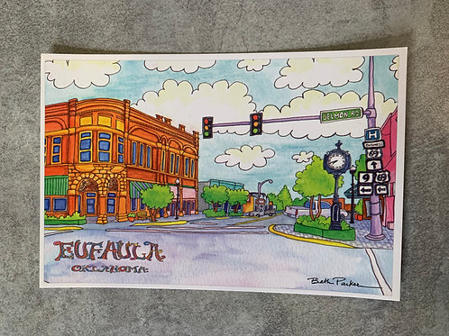 Eufaula Main Street 2 post card