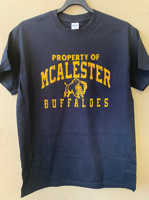McAlester Buffaloes distressed design