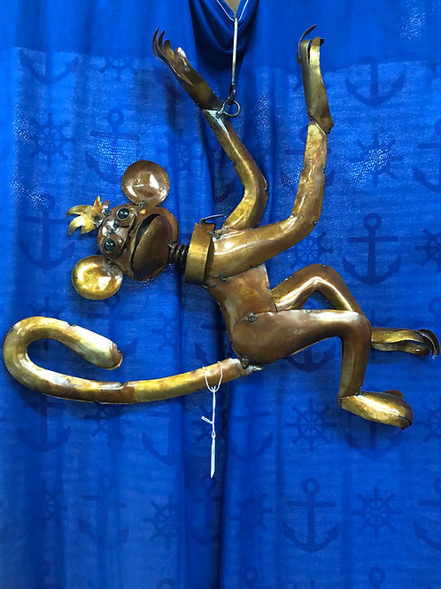Metal Hanging Monkey