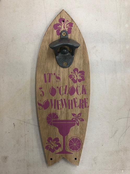 5 O'clock Surfboard Bottle Opener
