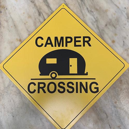 Camper Crossing Sign