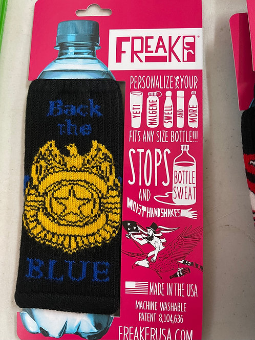 Back the Blue Freaker Koozie