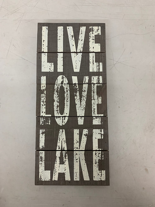 Distressed Live Love Lake Sign