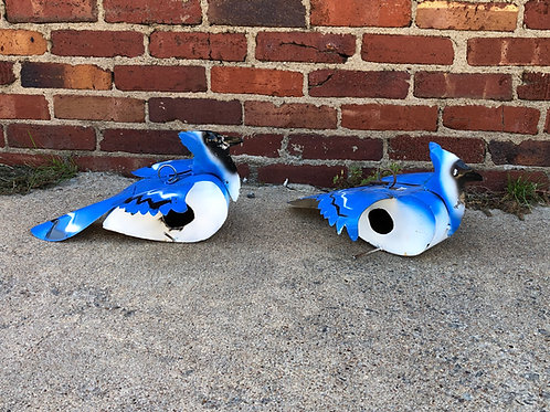 Metal Bluejay Birdhouse