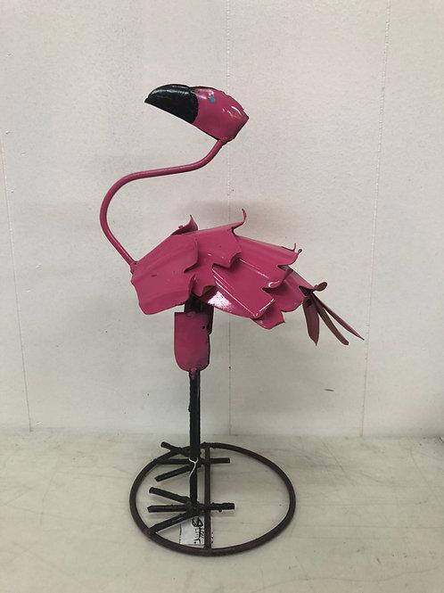 Metal Small Bobble Flamingo