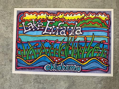 Lake Eufaula, Oklahoma water post card