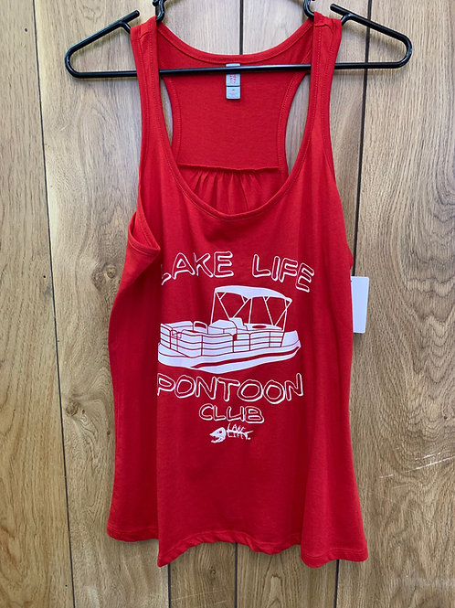 Pontoon Club Ladies Gathered-Back Tank