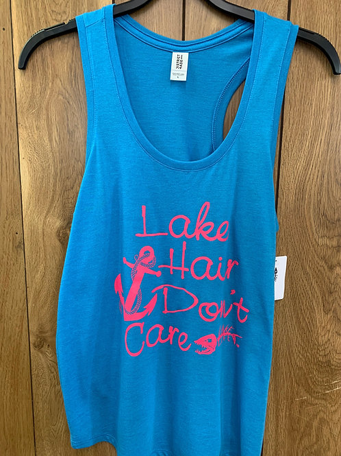 Lake Hair Don't Care Ladies Tank