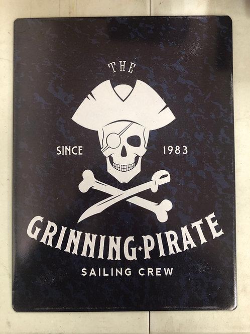 Grinning Pirate Metal Sign