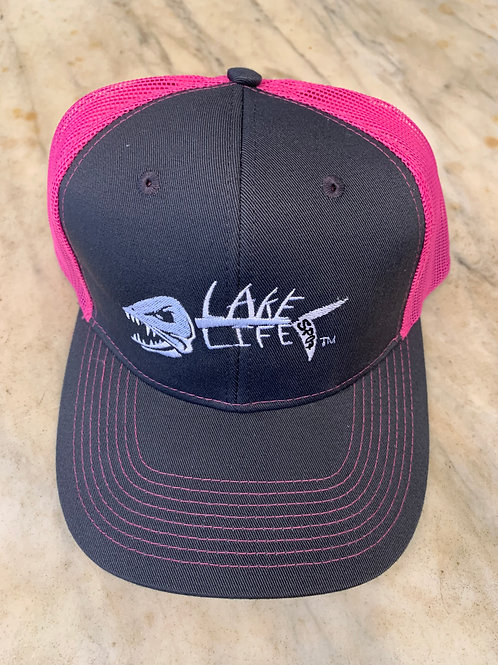 Lake Life Embroidered Snapback Trucker Hat C112