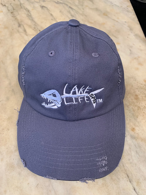 Lake Life Embroidered Distressed Hat DT600