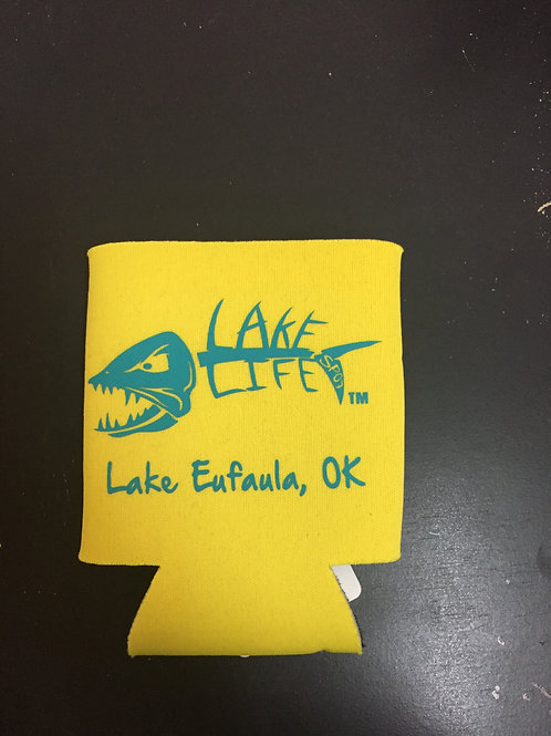 Yellow Lake Life Koozies