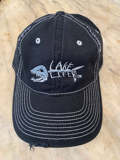 Lake Life Embroidered Rip and Distressed Hat DT612