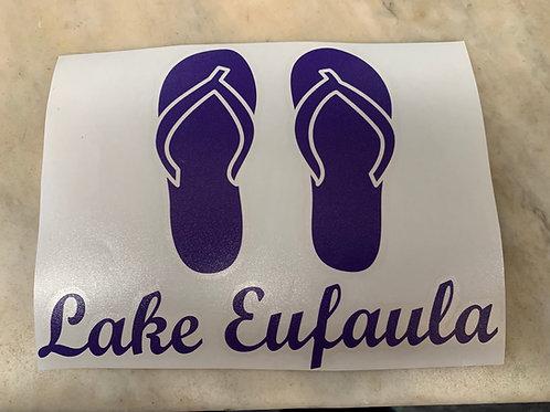 Lake Eufaula Flip-Flops Decal