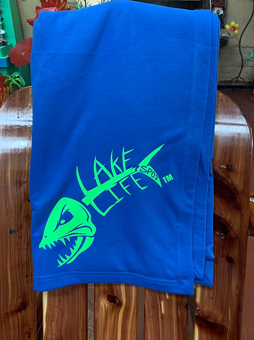 Fleece Lake Life Sweatshirt Blanket