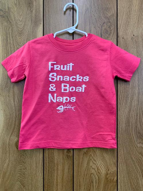 Fruit Snacks & Boat Naps Toddler T-Shirt
