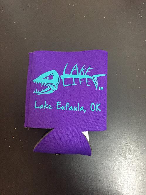 Purple Lake Life Koozies
