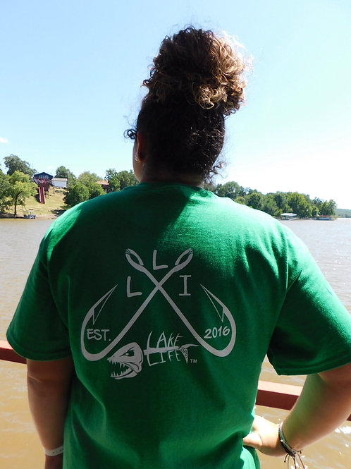 Crossed Hooks Lake Life T-Shirt