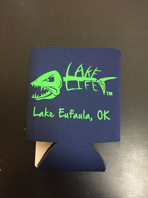 Navy Lake Life Koozies