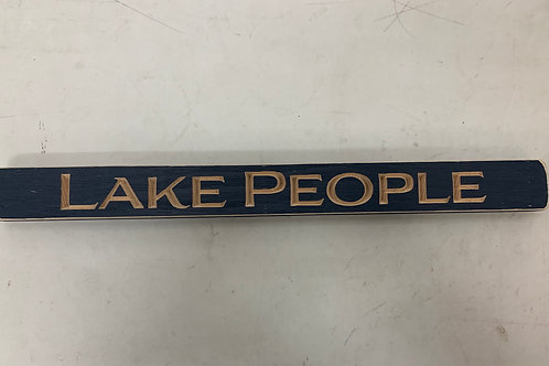 Lake People Sign