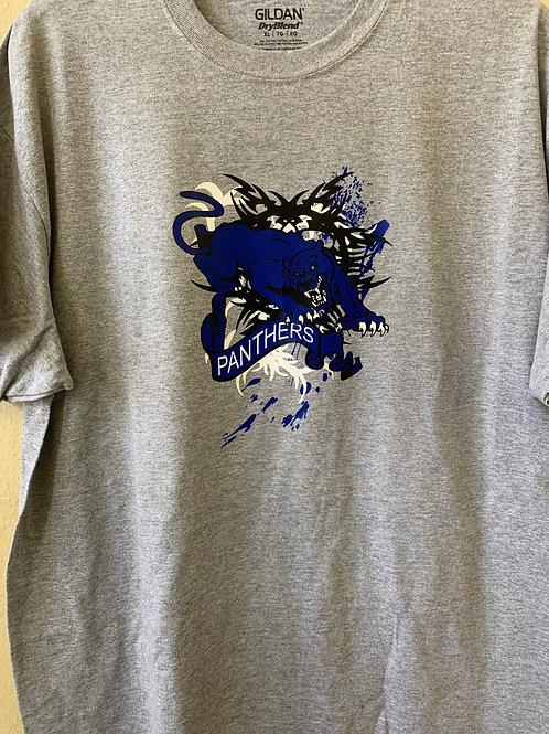 Panthers splatter paint design