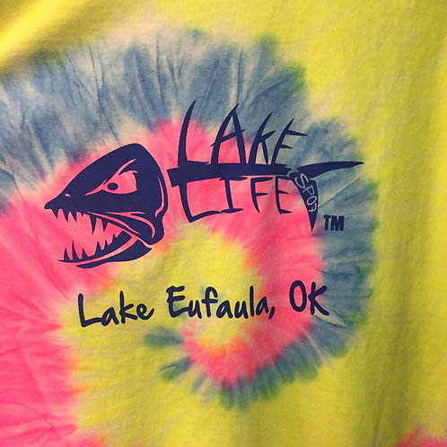 Tie Dye Lake Life Long-Sleeve