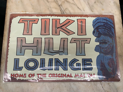 Tiki Hut Lounge Sign