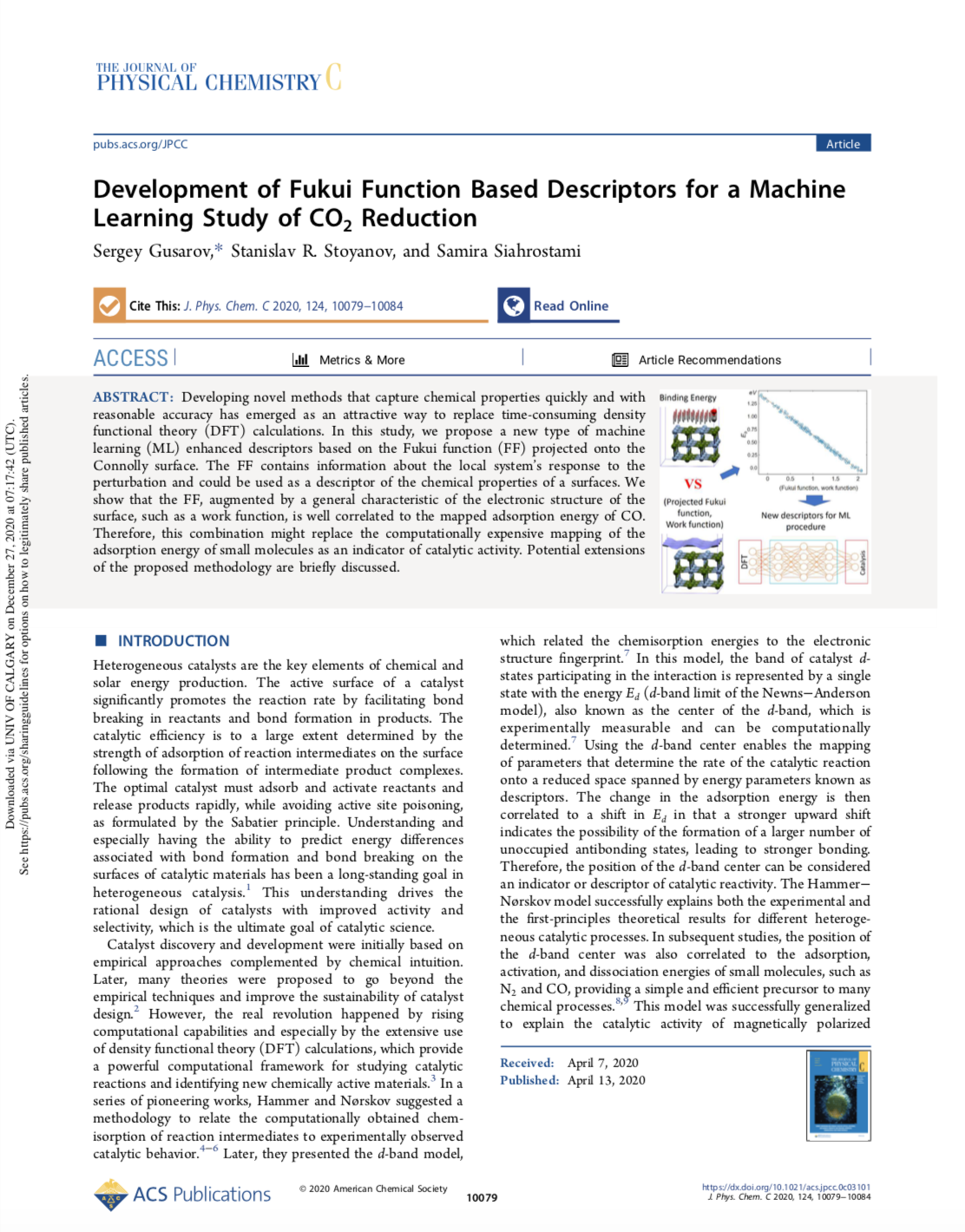 Development of Fukui Function Based Descriptors for a Machine Learning Study of CO2 Reduction
