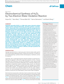 Electrochemical Synthesis of H2O2 by Two-Electron Water Oxidation Reaction