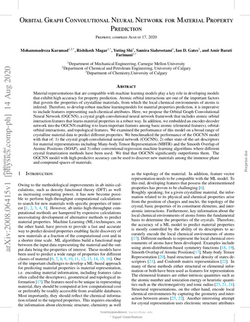 Orbital graph convolutional neural network for material property prediction