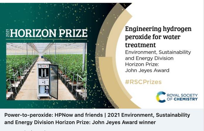 RSC Horizon Prize, John Jeyes Award