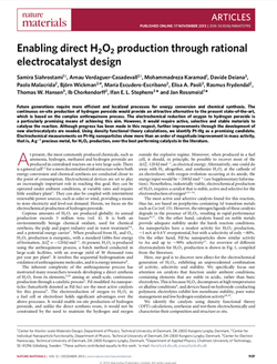 Enabling direct H2O2 production through rational electrocatalyst design