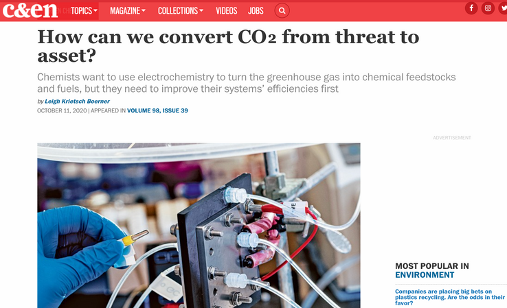 Featured Story in Chemical & Engineering News