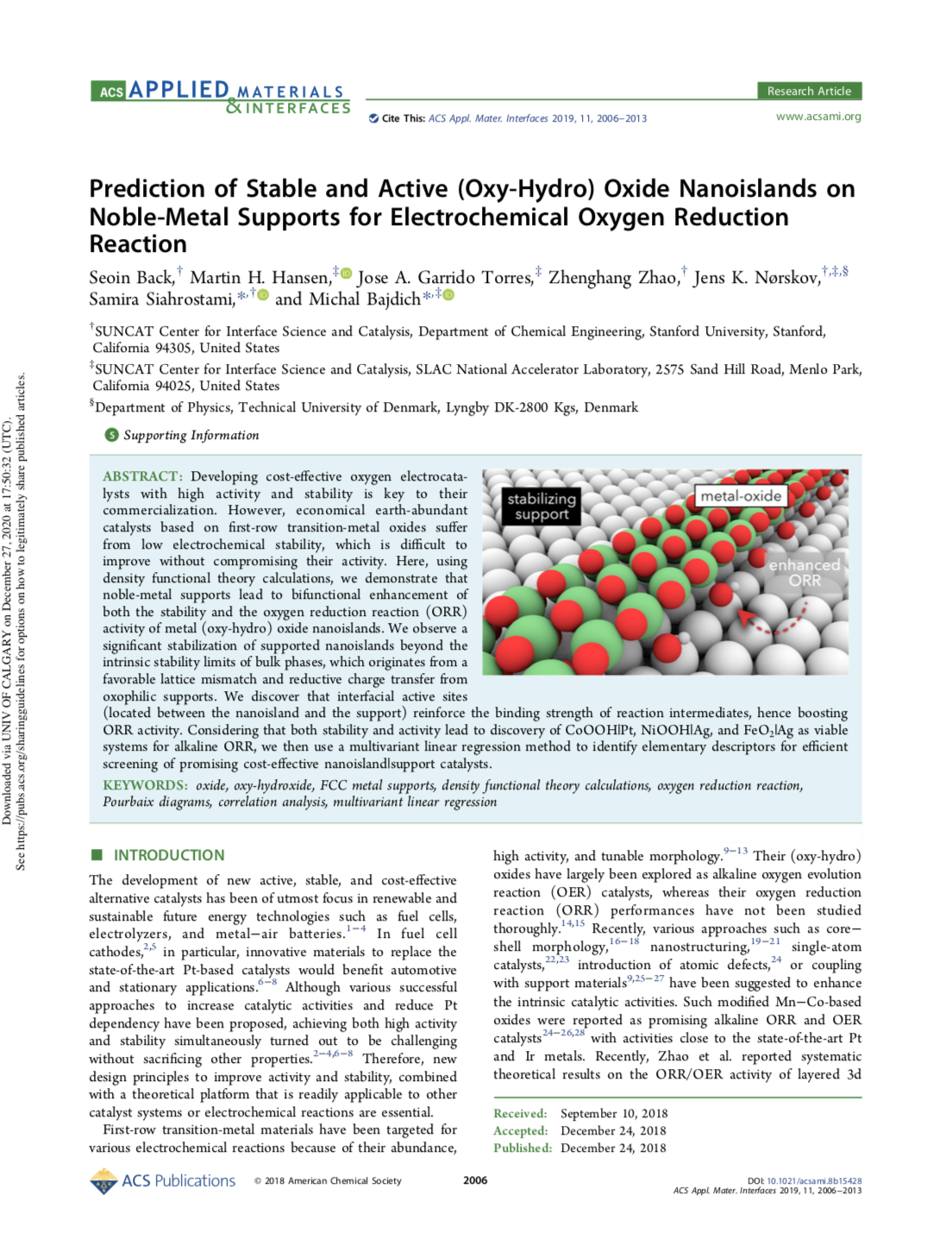 Prediction of Stable and Active (Oxy-Hydro) Oxide Nanoislands on Noble-Metal Supports for Electroche