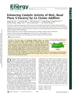 Enhancing Catalytic Activity of MoS2 Basal Plane S-Vacancy by Co Cluster Addition