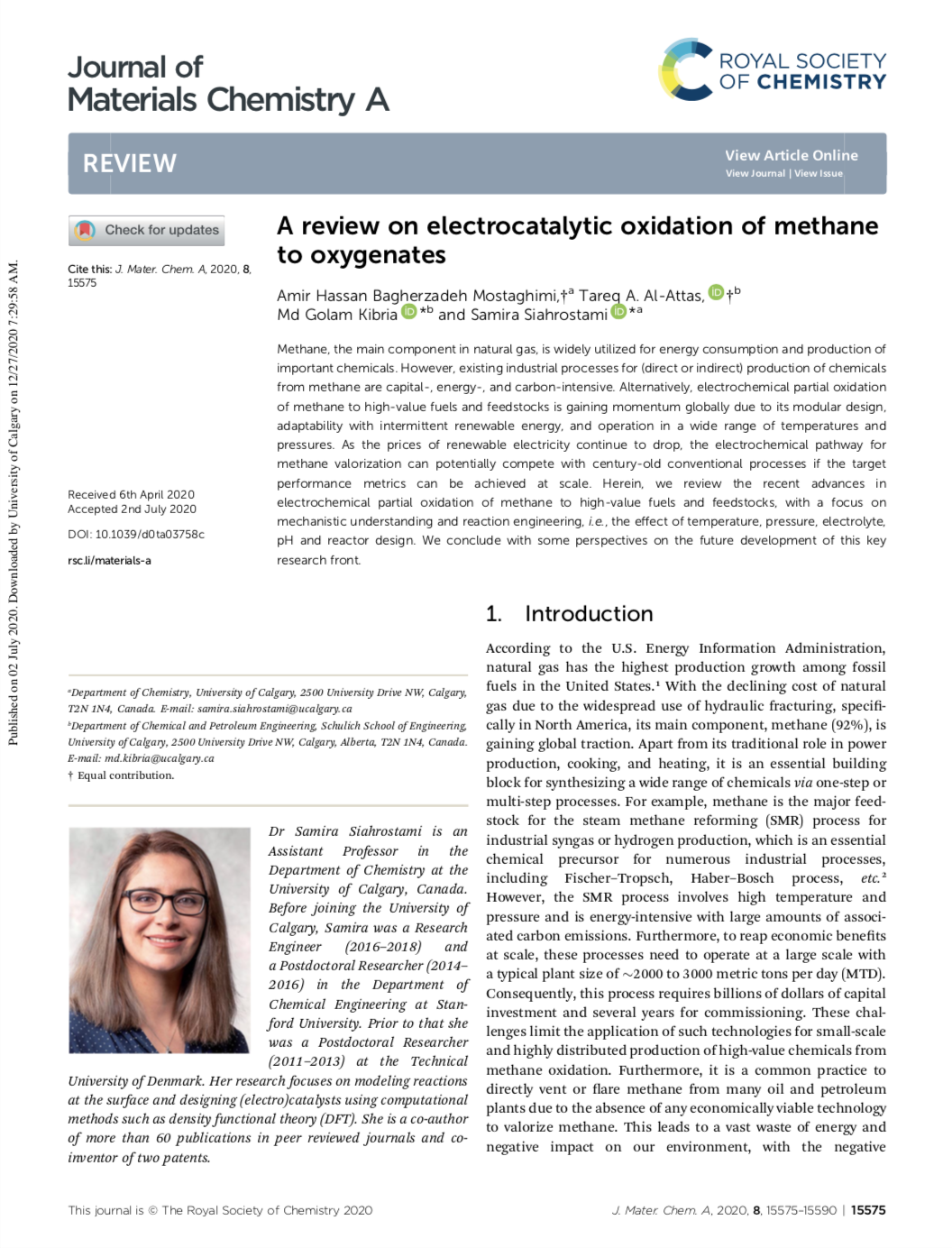 A review on electrocatalytic oxidation of methane to oxygenates