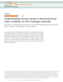 Understanding activity trends in electrochemical water oxidation to form hydrogen peroxide