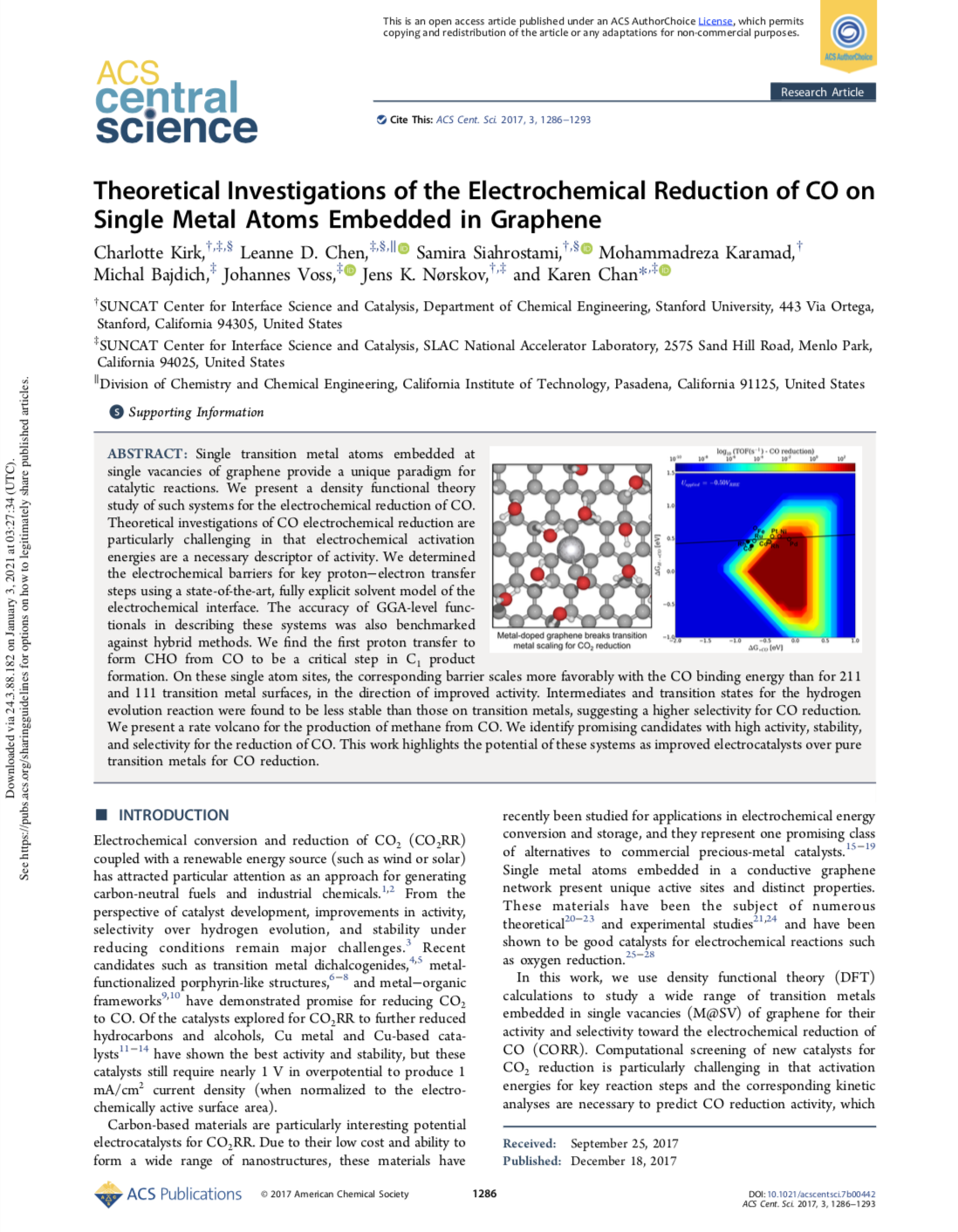 Theoretical Investigations of the Electrochemical Reduction of CO on Single Metal Atoms Embedded in