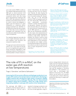 The role of Pt ina-MoC on thewater-gas shift reactionat low temperatures