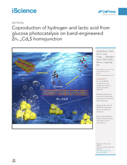 Coproduction of hydrogen and lactic acidfrom glucose photocatalysis on band-engineeredZn1-xCdxS homo