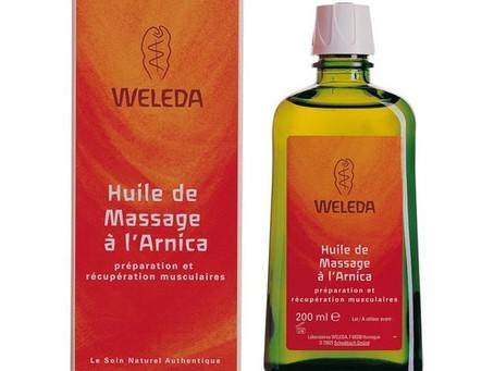 Courbatures et huile de massage